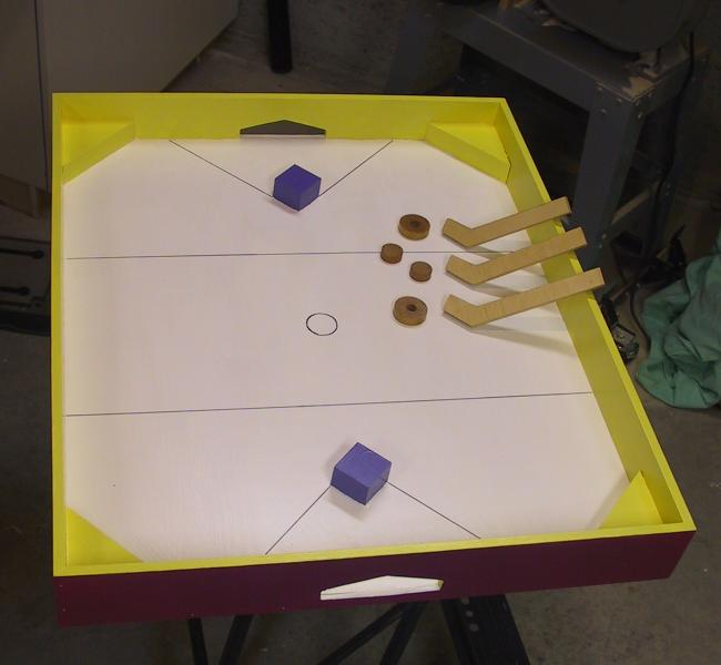 wooden table hockey plans