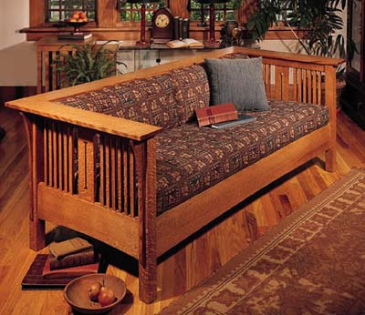 Mission Arts And Crafts Style Love Seat
