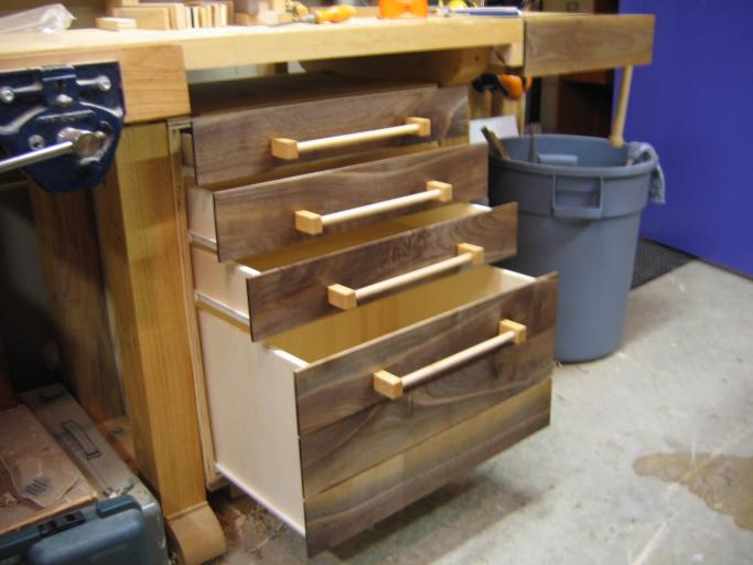 Nenny wood workbench with drawers diy
