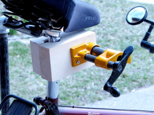 how to make a wooden bike stand