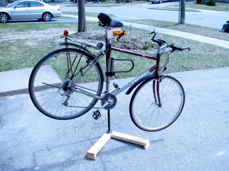 Diy Bike Repair Stand Wood images