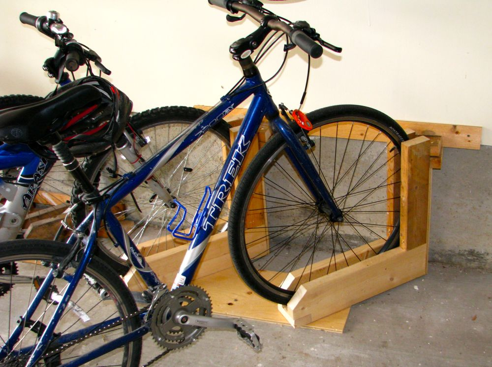quick and simple bike rack. Black Bedroom Furniture Sets. Home Design Ideas