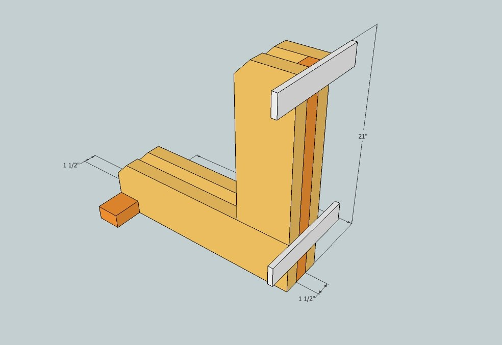 bike rack wood plan