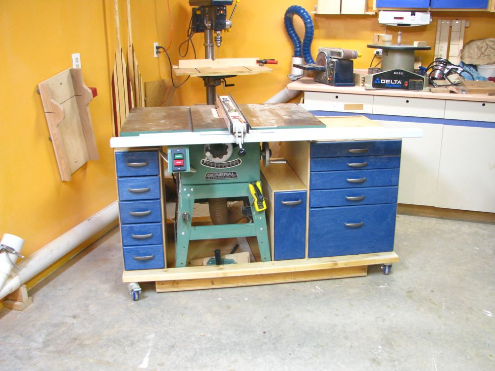 ... table saw workstations where people actually transform the table saw
