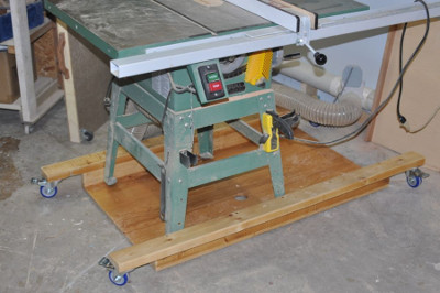 Mobile Tablesaw Workstand