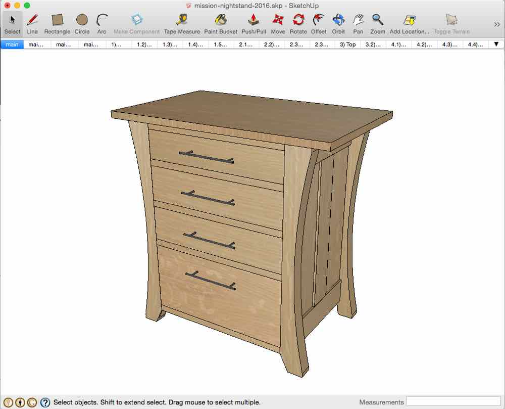 Mission nightstand with a twist for Nightstand plans