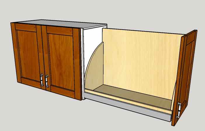 Side Opening Above-The-Fridge Cabinet